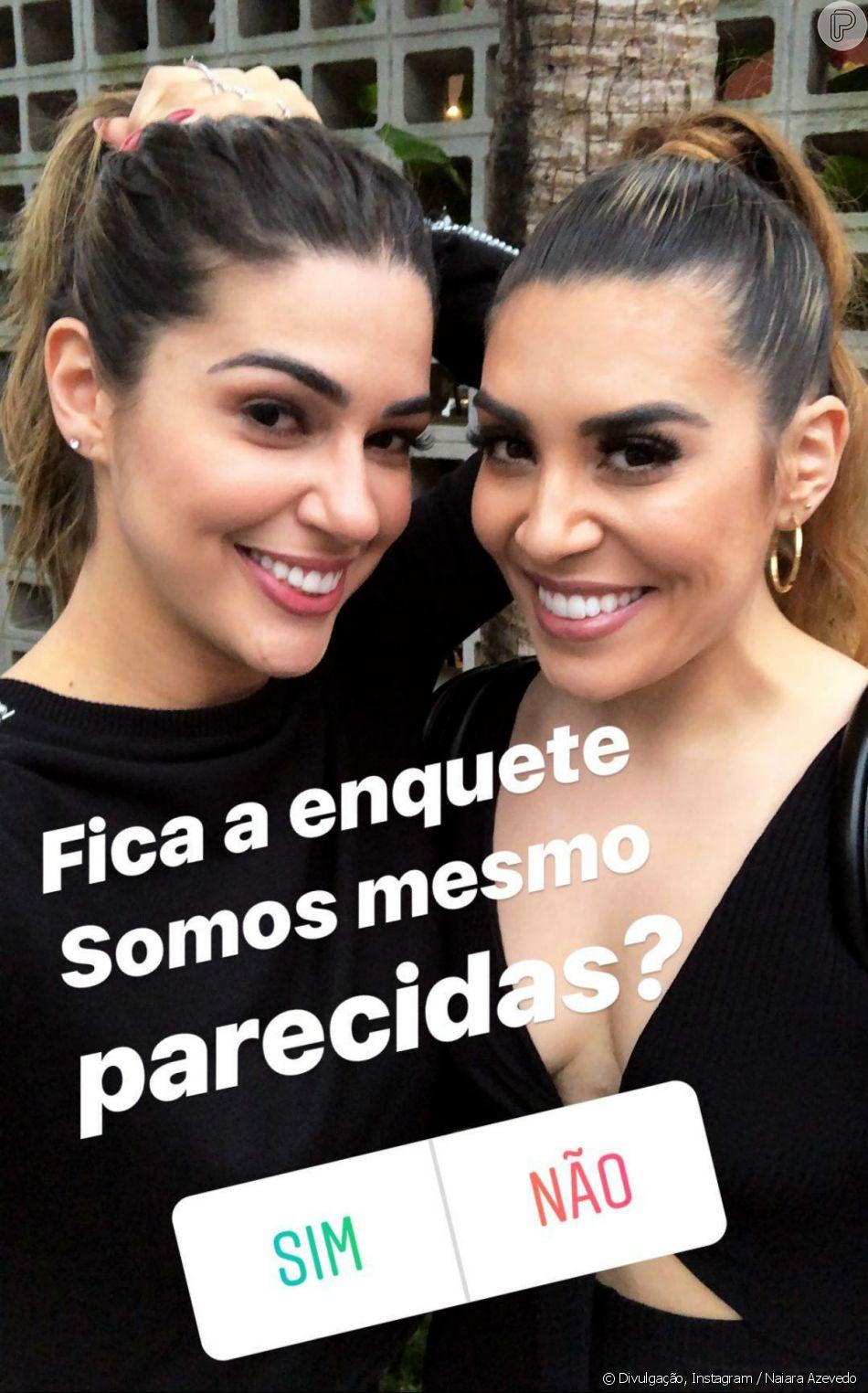 Naiara Avezedo comentou semelhança com Vivian Amorim nesta quarta-feira, 15 de agosto de 2018