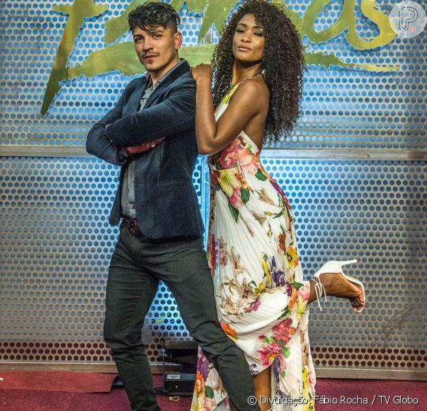 Erika Januza, participante do 'Dança dos Famosos' de 2018, teme os passos aéreos que terá que fazer com o professor Elias Ustariz