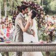 Isis Valverde e André Resende se casaram em junho e vão repetir a cerimônia, no religioso, em 2019