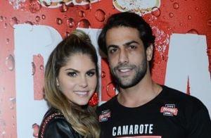 Juntos de novo! Bárbara Evans e Gustavo Theodoro se beijam após reatarem namoro
