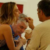 William Bonner passeia de mãos dadas e divide sorvete com a noiva. Veja fotos!