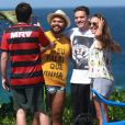 Wesley Safadão foi clicado na Praia da Barra da Tijuca, Zona Oeste do Rio