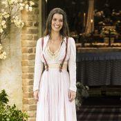 Noiva moderna em 'Orgulho e Paixão'! Elisabeta se casa usando suspensório. Fotos
