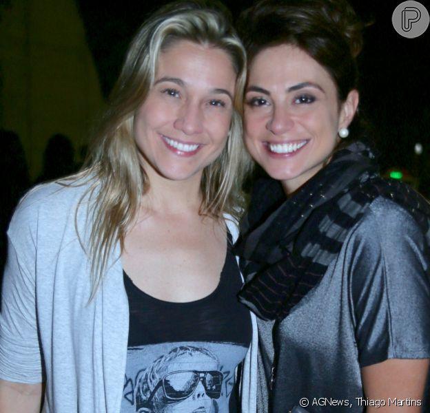 Fernanda Gentil e a namorada, Priscila Montandon, conferiram o show de Sandy no Vivo Rio, na zona sul do Rio de Janeiro, neste sábado, 25 de agosto de 2018