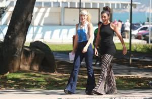 Angélica e Juliana Paes dançam até o chão durante gravação do 'Estrelas'