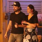 Rodrigo Santoro curte temporada no Rio e janta com mulher, Mel Fronckowiak