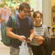 Débora Falabella e Murilo Benício passeiam em shopping no Rio. Fotos!