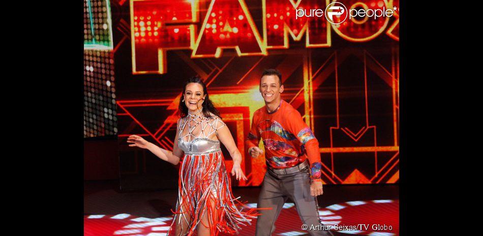10 de agosto de 2014 - Vanessa foi para a repescagem no 'Dança dos Famosos' com votos dos jurados e do auditório