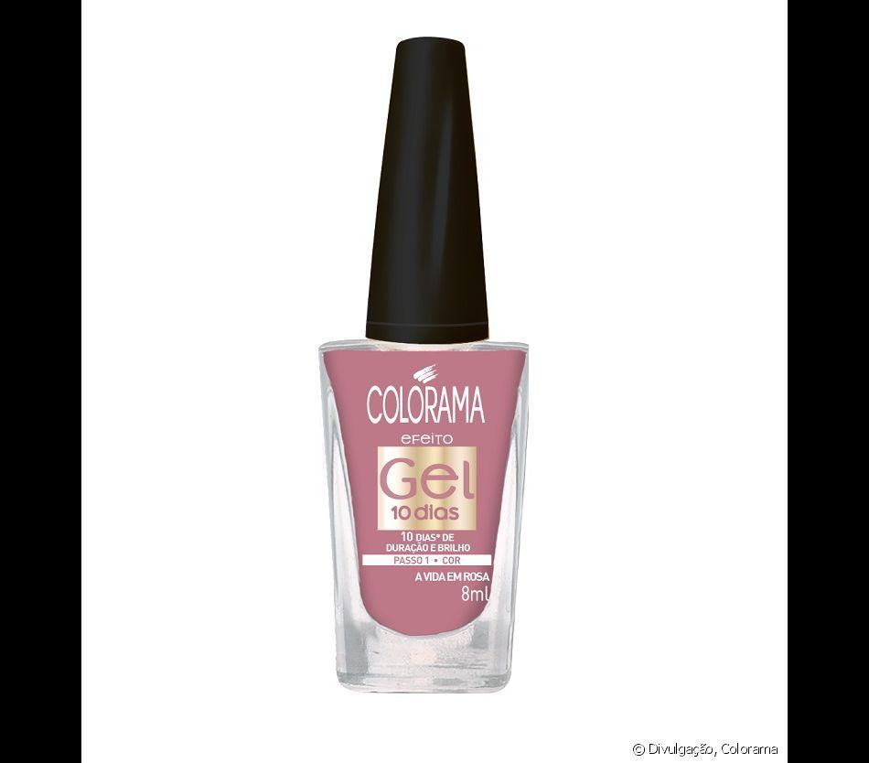 b53523ade As apaixonadas por esmalte rosa podem apostar no A Vida em Rosa da linha de  esmaltes com efeito em gel de Colorama