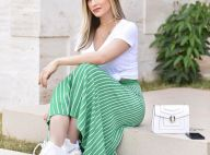 Andressa Suita combina saia midi com chunky sneakers: 'Tá na moda e eu gostei'