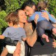 Adriana Sant'Anna e Rodrigão são pais de Rodrigo e Linda