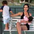 Adriana Sant'Anna e Rodrigão raramente expõem os rostos dos filhos nas redes sociais
