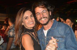 Fátima Bernardes troca beijo com namorado em seu aniversário: 'Comecei bem'