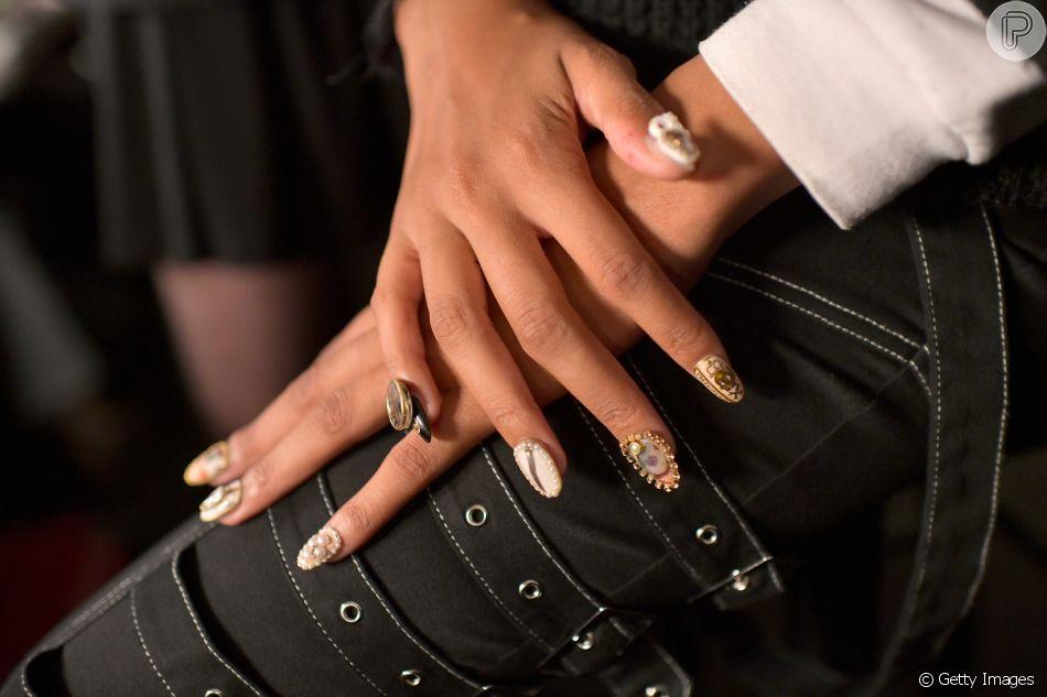 Veja as nail arts que bombaram nas passarelas da Semana de Moda de Nova York