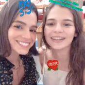 Bruna Marquezine comemora aniversário de 16 anos da irmã, Luana. Vídeo!