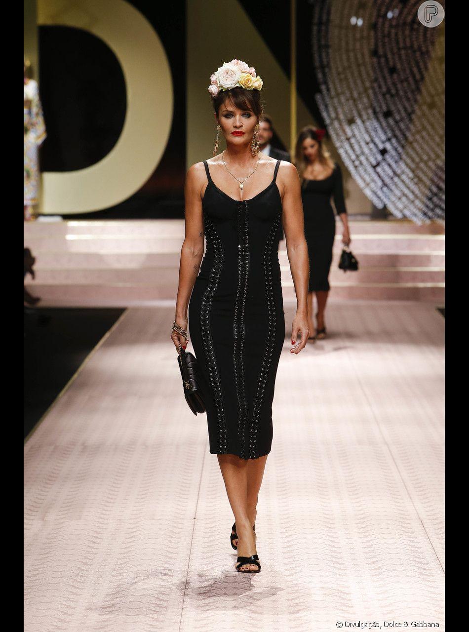 c162b4a04 Helena Christensen no Desfile da Dolce & Gabbana fechou a Semana de Moda de  Milão em 23 de setembro de 2018
