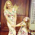 Angélica se declarou para a filha, Eva, nas redes sociais: 'Musa que fala! Amores meus!'
