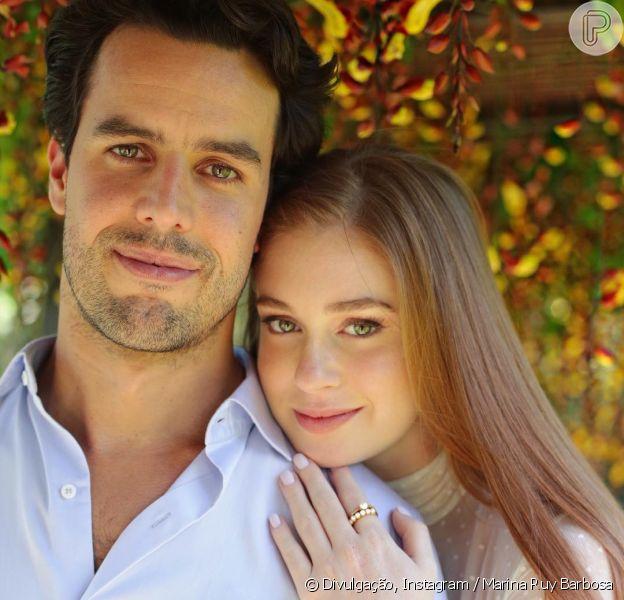 Marina Ruy Barbosa comemorou 1 ano de casamento no religioso com Xandinho Negrão nesta segunda-feira, 1 de outubro de 2018