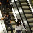 Sthefany Brito passeia com o namorado, Igor Raschkovsky, em shopping do Rio de Janeiro (17 de agosto de 2014)