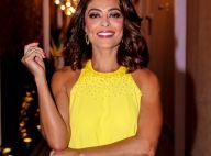 Juliana Paes valoriza bronzeado com look curto amarelo em inauguração. Fotos!