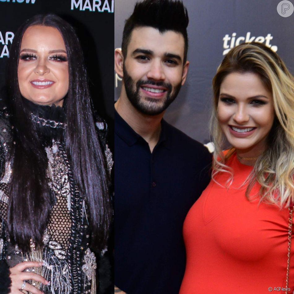 Maiara elogia Gusttavo Lima e cita mulher do sertanejo em foto postada por ele neste sábado, dia 20 de outubro de 2018
