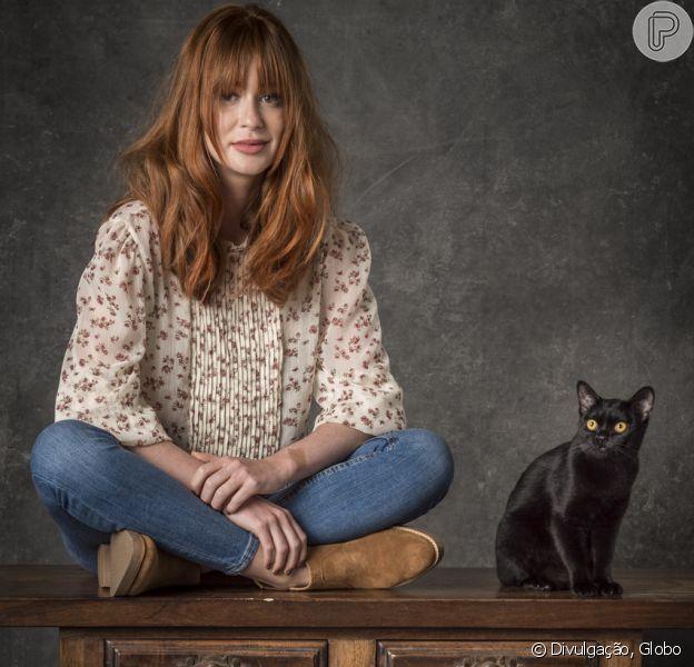 'O Sétimo Guardião', a nova novela das 9, terá Marina Ruy Barbosa como Luz, uma vidente que tem uma conexão especial com o misterioso gato preto Leon, que sofre com uma maldição