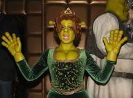 Heidi Klum se fantasia de princesa Fiona em festa anual de Halloween. Fotos!
