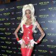A modelo Winnie Harlow usou fantasia sexy para a 19ª festa de Halloween de Heidi Klum em Nova York, nos Estados Unidos, na noite desta quarta-feira, 31 de outubro de 2018