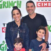 Wanessa Camargo e marido, Marcus Buaiz, levam os filhos à pré-estreia de filme