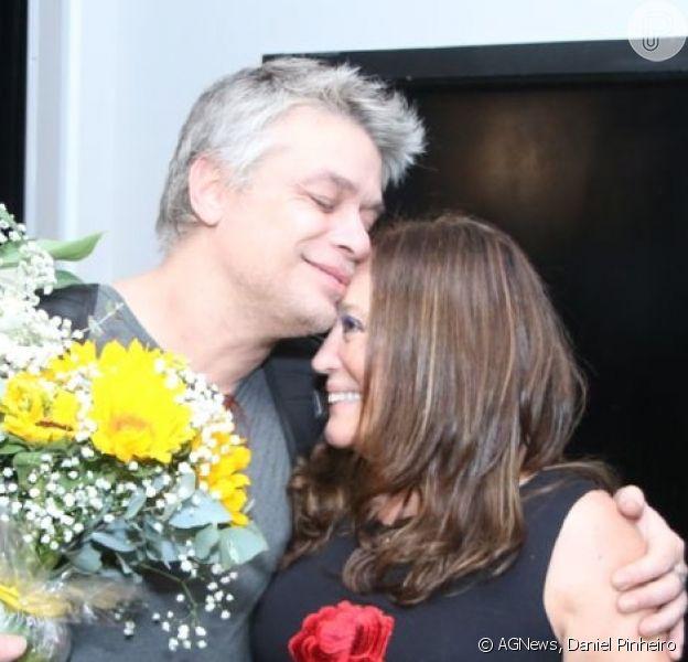 Fabio Assunção recebeu Susana Vieira na pré-estreia da peça 'Dogville', na noite desta sexta-feira, 2 de novembro de 2018