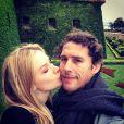 Fiorella Mattheis e Flávio Canto viajaram para Barcelona em maio deste ano