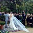 Flávio Canto e Fiorella Mattheis se casaram no sítio da família da atriz, na Região Serrana do Rio