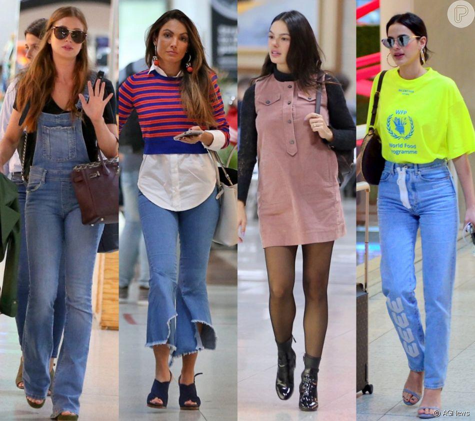 337c937cd Looks para viajar: veja fotos das famosas no aeroporto e inspire-se ...