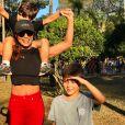 Juliana Paes curtiu o aniversário do filho mais velho, Pedro, com festa em família