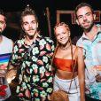 Bruno Gissoni, Gabi Lopes e amigos curtem festa 'Benção', promovida pela agência Carvalheira, em Fernando de Noronha, neste sábado, 29 de dezembro de 2018