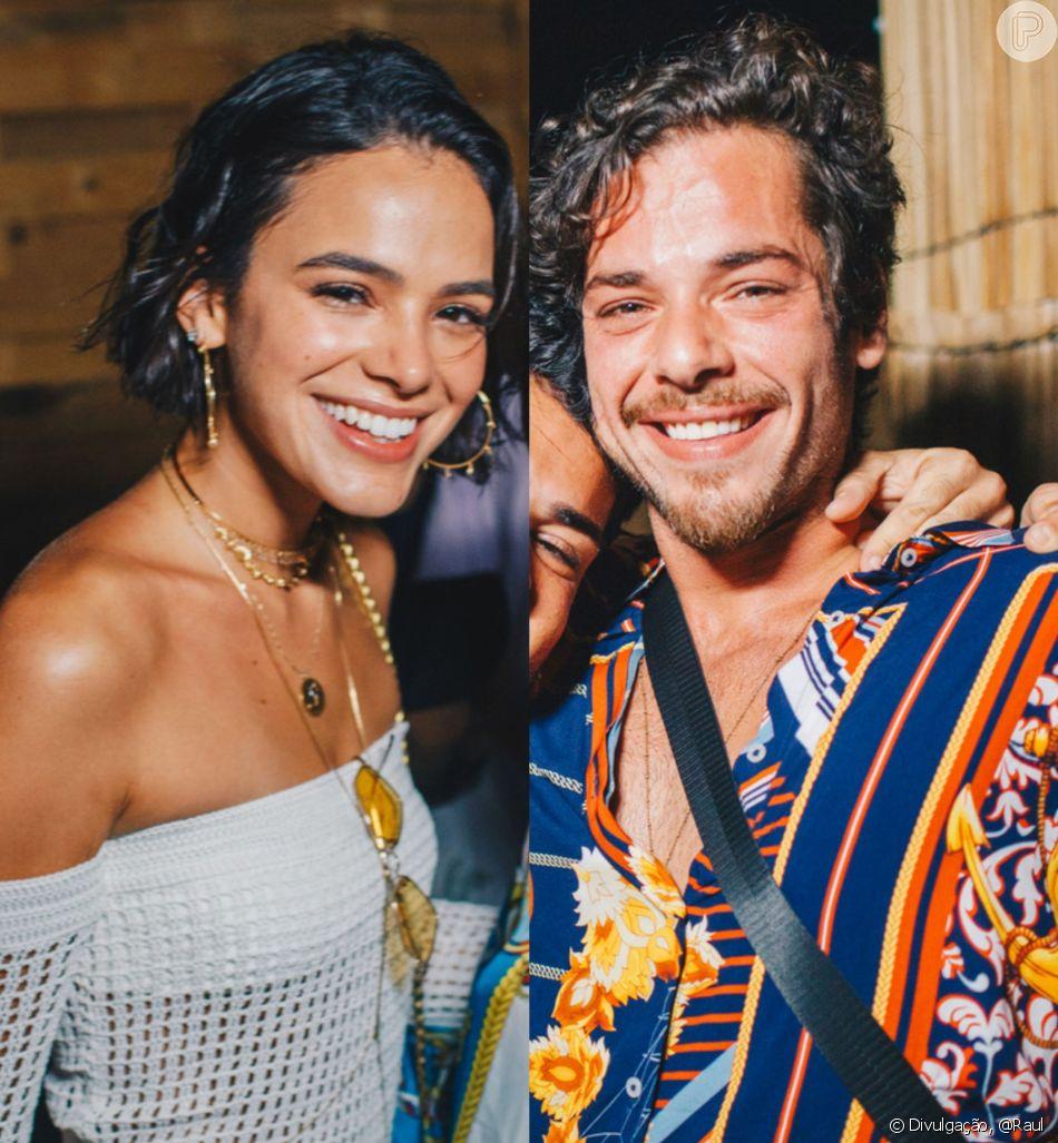 Bruna Marquezine e Gian Lucca curtem mesma festa em Noronha, neste sábado, 29 de dezembro de 2018