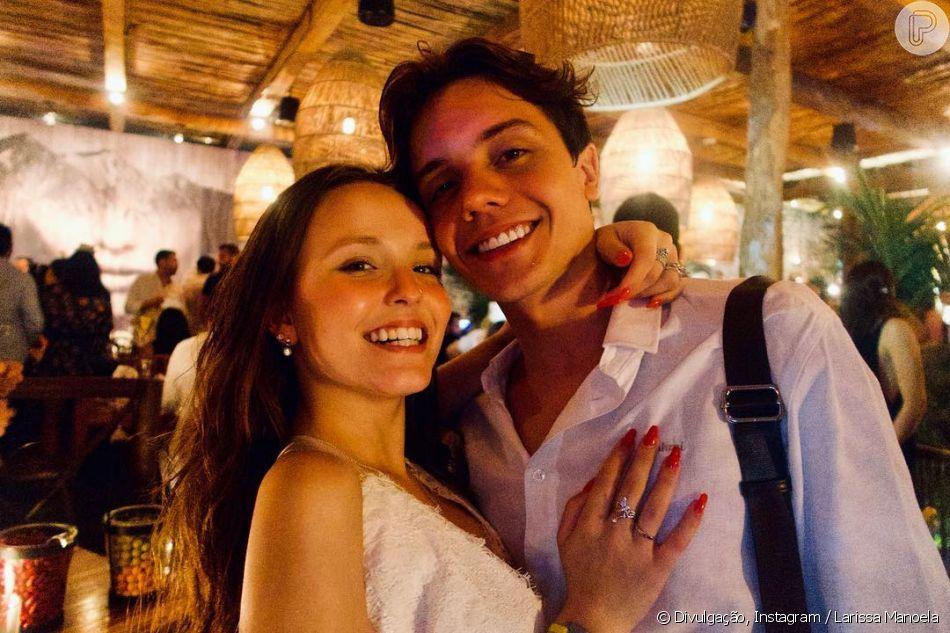 Larissa Manoela curtiu primeiro réveillon com o namorado, Leonardo Cidade 8431d696c5