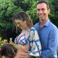 Ticiane Pinheiro e Cesar Tralli anunciaram a gravidez da apresentadora no fim do ano passado