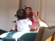 Ivete Sangalo mostra marido, Daniel Cady, dando comida às gêmeas: 'No comando'