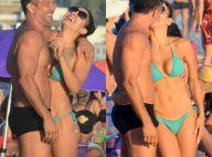 É o amor! Malvino Salvador e Kyra Gracie trocam beijos em praia do Rio. Veja!