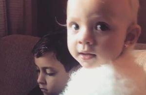 Manuela, filha de Eliana, encanta web ao fazer charminho em vídeo: 'Muito fofa!'