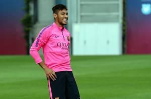 Neymar volta a treinar com o Barcelona e pode jogar contra o Málaga