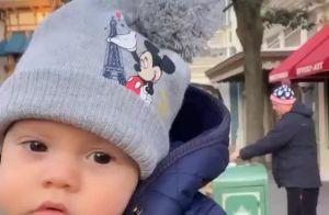 Caçula de Wesley Safadão, Dom esbanja fofura com look de frio em Paris. Vídeo!