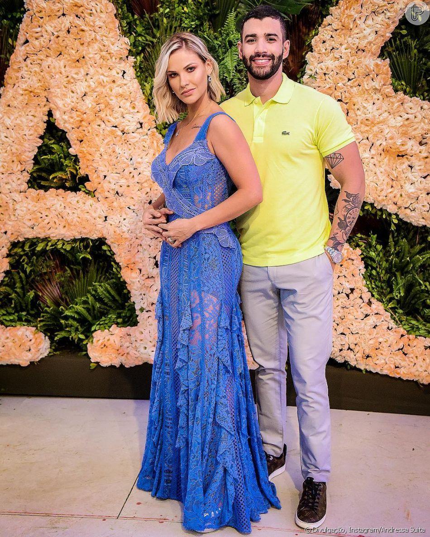 Gusttavo Lima dança em camarim e Andressa Suita se derrete ao comentar a foto neste sábado, dia 09 de fevereiro de 2019