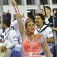 Lívia Andrade apostou em body cavado no ensaio técnico da Império de Casa Verde, na noite desta sexta-feira, 15 de fevereiro de 2019