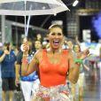 Lívia Andrade brilhou no ensaio técnico da Império de Casa Verde, na noite desta sexta-feira, 15 de fevereiro de 2019