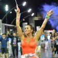 Lívia Andrade fez uma homenagem ao filme 'Cantando na Chuva' no ensaio técnico da Império de Casa Verde para o carnaval: 'Musa de verdade não foge da chuva'