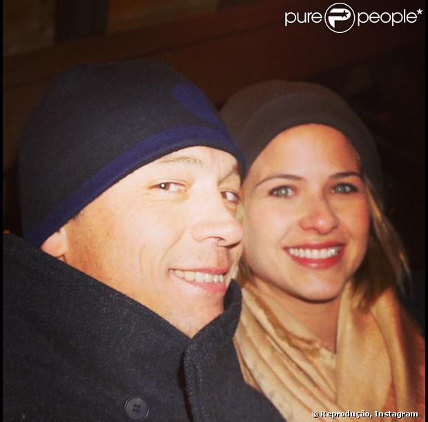 Luiza Valdetaro posa com o marido, Alberto Blanco, durante viagem a Aspen, em 15 de fevereiro de 2013