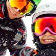 Luiza Valdetaro e Alberto Blanco aproveitaram o frio dos Estados Unidos praticando esportes de neve