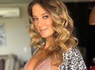Ticiane Pinheiro exibe barrigão da 1ª gravidez com Cesar Tralli: '5 anos juntos'